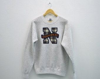 Lee Sweatshirt Men Size M Vintage Lee Pullover 90s Lee Vintage Newport Rhode Island Sweat Made in USA