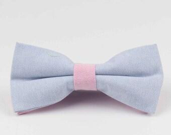 Bowstie - Hand made bowtie - Blue & Pink