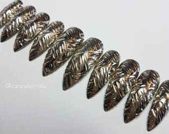 Diamond Plate Reusable press on nails