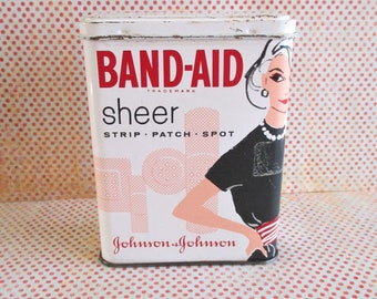 Vintage Band-Aid Sheer Strips Tin