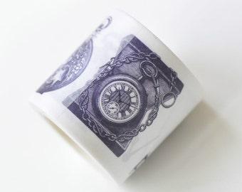 Retro Clock Washi Tape Wide Paper Tape 40mm X 5m Long No.13214