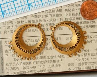 Brass Chandelier Earring Finding. Vintage. Brass charm, vintage component, vintage supply, vintage charm, jewelry supplies, jewelry making.