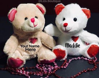 Valentines Day, Valentines Day Bears, personalized valentines day bears, personalized valentines gift