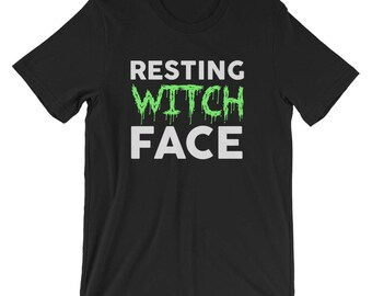 Resting Witch Face Halloween Shirts - Halloween Tees - Halloween Costume - Funny Halloween Shirts - Funny Halloween Tshirt