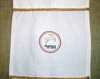 204 Tribe of Naphtali Diamond White 100% Linen Banner