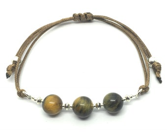 Bracelet in silver and Tiger's Eye