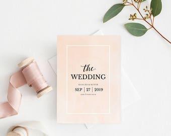 Wedding Program Book Template, Printable Wedding Program, Catholic Wedding Program, Instant Download Editable PDF Watercolor Blush#SPP043pk