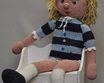 crochet pink lolita doll