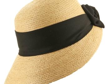 Golf Visor Scoop Panama Straw Hat Womens