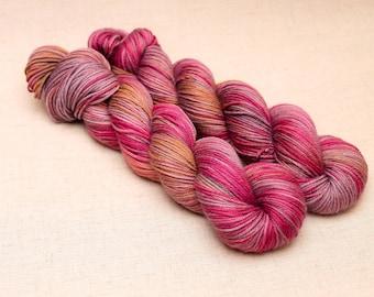 hand dyed yarn 'Run before you Walk' Sock