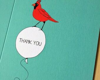 Bird Balloon Thank You Card