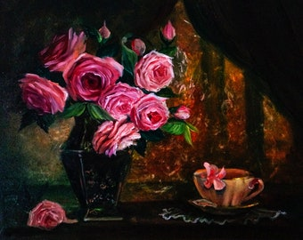 Roses ** Original oil painting on canvas