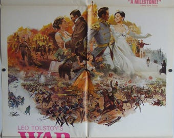 War And Peace - 1968 - Original US one sheet movie poster