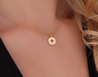 Compass Necklace Gold. Compass Pendant Necklace. Compass Charm Necklace