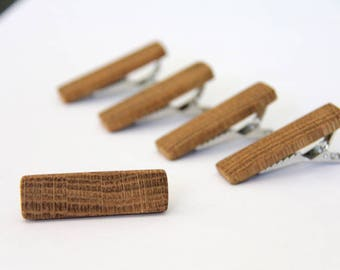 oak tie bar - short - for skinny ties