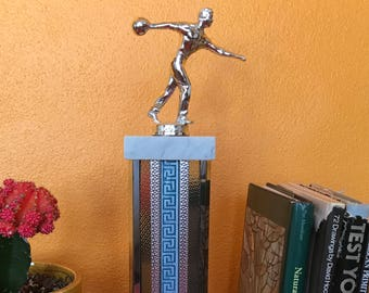 Bowling trophy mid century home decor man cave