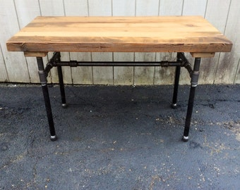 reclaimed wood furniture etsy. The Butchers Choice Reclaimed Wood Bar Table Butcher Block FarmhouseTable Patio Furniture Etsy R