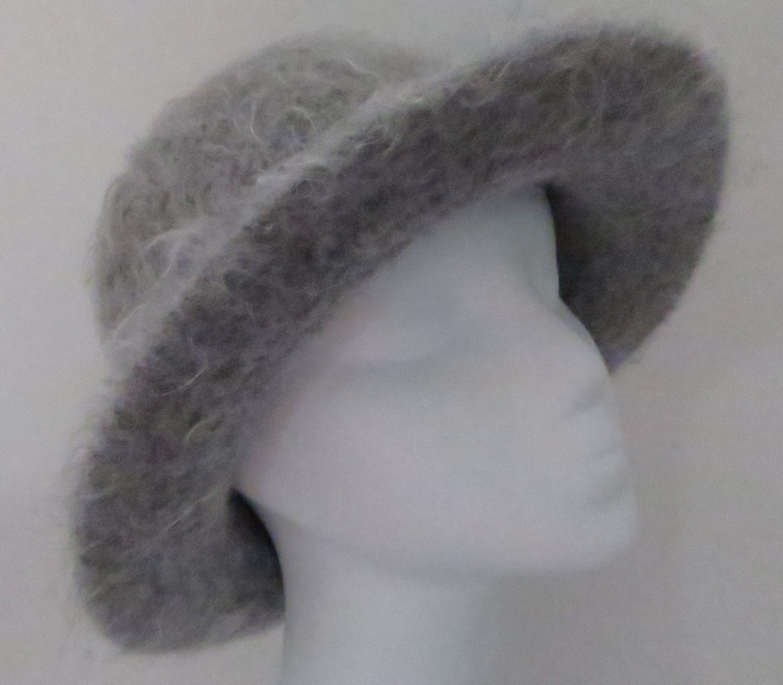 Felted Hat Pattern #204 Flat Brim Hat using Lamb\'s Pride, Felt Hat ...