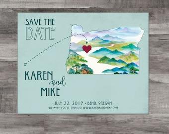 Oregon Save the Date – Destination Wedding Save the Date - Bend, Oregon