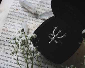 Neptune ring,silver ring,wiccan jewelry,pagan ring,planet symbol,nature inspire,divination,Greek myth,dark jewelry,occult,gothic,Tarot