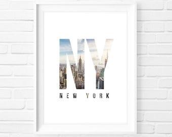 New York NY - Instant Download Digital Print Interior Design Home Decor Living Room Bedroom Printable Art Poster