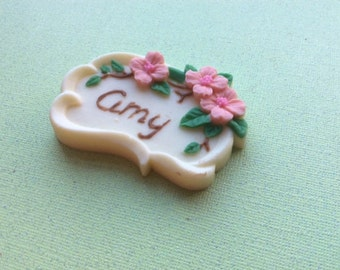 Chocolate Floral Tag
