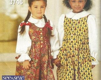 Vintage Butterick See & Sew Toddler Jumpsuit Pattern SZ 1-3
