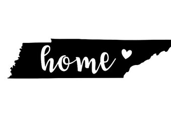 Tennessee State Decal - Tennessee Decal -Tennessee - Tennessee Home Decal -  Home Decal - Home vinyl - Tennessee Car Decal - State Sticker