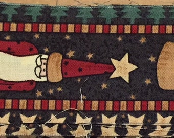 Vintage Debbie Mumm Santa Fabric Border  - Out of Print
