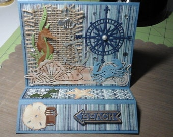 Beach Themed Handmade Greeting Card