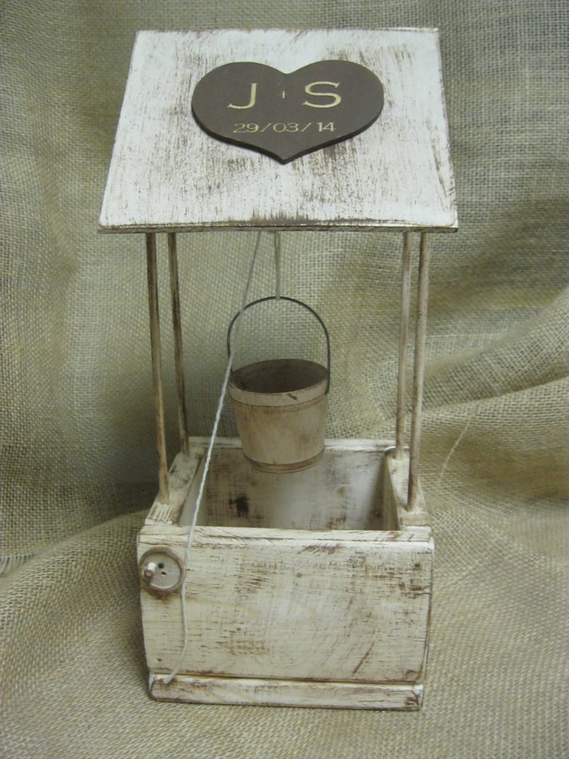 Wishing Well Distressed Rustic Wood Personalized
