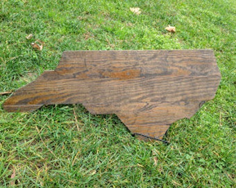 North Carolina Wood Silhouette