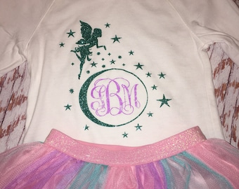 Monogram Fairy Iron On Decal / Fairy iron on / Monogram iron on / monogram / glitter monogram / Fairy monogram decal
