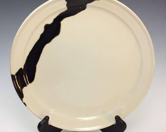 Handmade, wheel thrown, dinner plate or platter