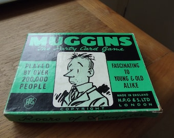 Muggins, a party card game from the 50s, in its original box
