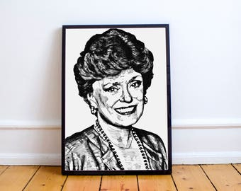 The Golden Girls Wall Art // Blanche Devereaux // Dorothy Sophia Rose Blanche // Thank you for being a friend // The Golden Girls