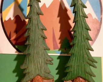Pine Tree Woodcarving