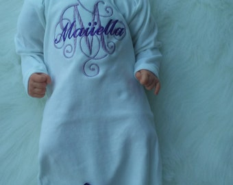 Personalized Baby Girl Coming Home Outfit Purple Newborn Hospital Outfit Newborn Girl Take Home Outfit Personalized Baby Shower Gifts