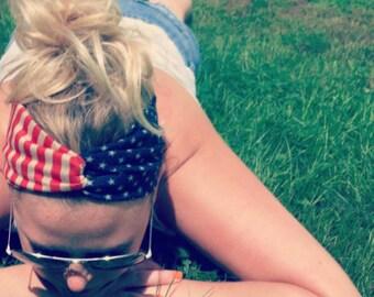 American Flag Headband