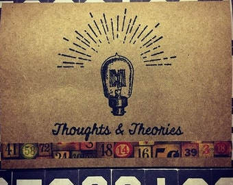 Tim Holtz Thoughts and Theories Vintage Note Card Mixed Media Handmade