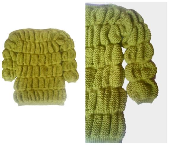 MICHELIN MAN Knit Dress. Unique dress. Long sleeve dress. Designer dress.One off knit/crochet dress.Cable knit dress. Aran knit dress - Summer Crochet