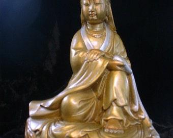Golden Quan Yin Goddess of Compassion
