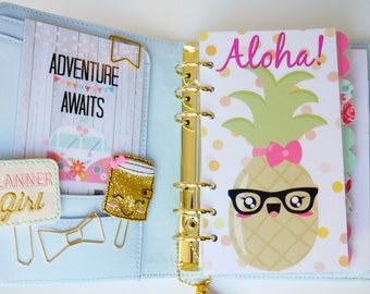 Aloha! Pineapple Personal, A5, A6, B6 & Pocket Planner Dashboards
