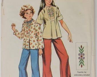 Vintage 1974 Simplicity Pattern 6434 Girls 14