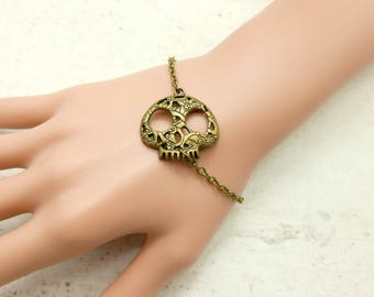 Skull Bracelet, Skull jewelry,