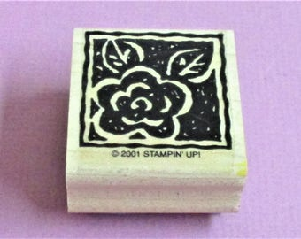 Papercraft Rose Rubber Stamp Rose Flower Reverse Image Scrapbooking Craft Supply Stamp DIY Card Making Greeting Cards Invitations Stationary