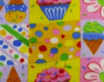 Multicolor Birthday Fleece, Fabric By The Yard