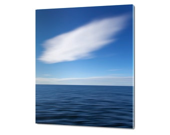 Acrylic Glass Print, Nautical Art, Abstract Beach Art, Ocean Photography, Seascape Artwork, Coastal Decor, Beach Decor, Navy Blue White