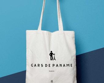 "Bag ""Guy from paname"", Paris, Paris, man bag, bag Tote, Tote bag, bag canvas, cotton bag, purse, bag of course, counter"