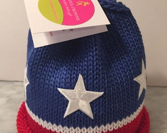 Stars and Stripes Newborn Baby Beanie